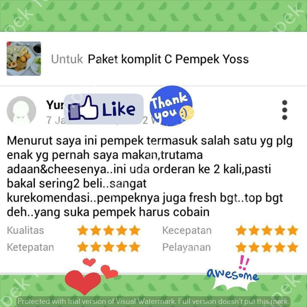 Testimoni dari Yunita untuk Pempek Palembang by Pempek Yoss